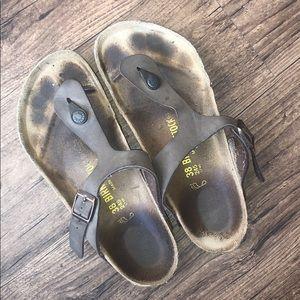 *worn* Birkenstock sandals